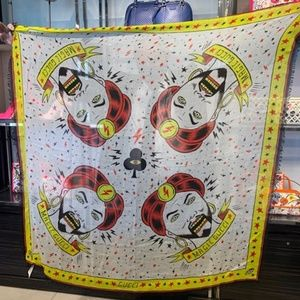 Gucci Magic Gypsy Turban Stars Cotton Scarf